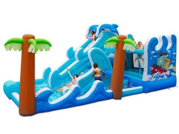 Dolphine Waves Bouncy Slide